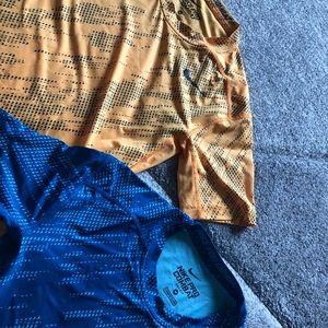 2 Nike pro combat shirts